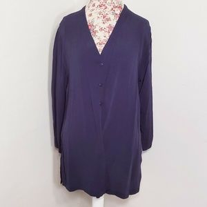 Vintage Eileen Fisher Drapey Flowy Button Blouse